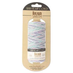 1.0mm Variegated Pastels Soft & Pretty Hemp - 10m