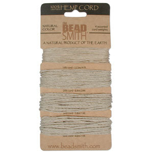 Natural Hemp - 4 Asstorted Thicknesses & Lengths