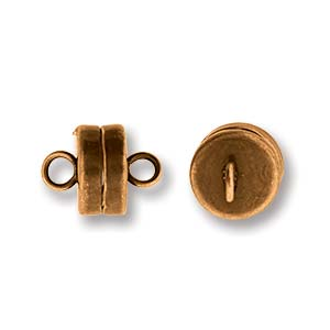 Magnetic Clasp, Antique Copper, Barrel, 7mm (1pc=$3.10, 5pcs=$12.40)