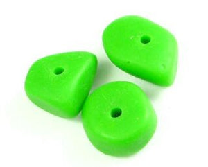 Resin, Chips Large, Opaque Green, 11x16mm (10pc)