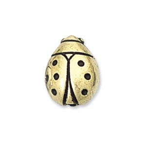 11mm Plastic Metallic Lady Bug, Gold (5 pcs)
