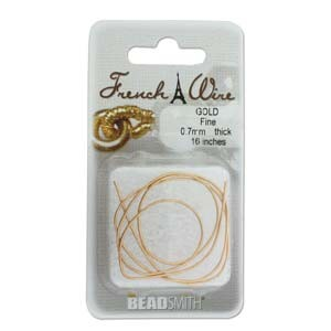 French Wire, Gold, Fine, 0.7mm (40cm)