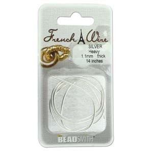 French Wire, Silver, Heavy, 1.1mm