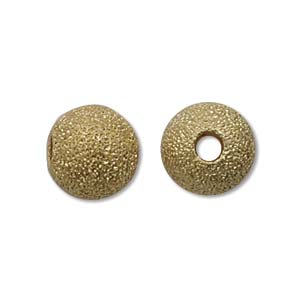 Metal Bead, Star Dust, Gold, 8mm (10 pcs)