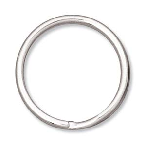 Split Ring, Nickel, 24mm (10 Rings)