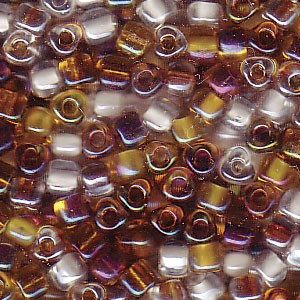 Size 8 Tri Bead Mix, Honey Butter (10gms)
