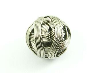 Metal Bead: Wire Ball, Nickel, 20mm (5 pcs)
