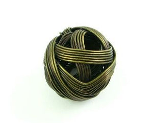 Metal Bead: Wire Ball, Brass, 20mm (5 pcs)