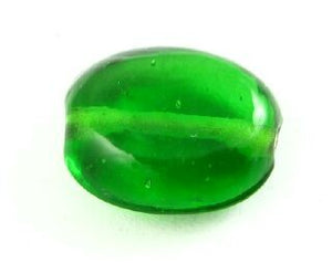 Indian Glass, Plain, Large Oval, Emerald, 17x4mm (20gms - 8pcs)