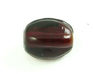 Indian Glass, Plain, Irregular Rectangle, Reddy Brown, 13x8mm (20gms - 12pcs)