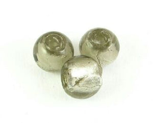 Chinese Foil, Round, Grey, 8mm (10 pcs)