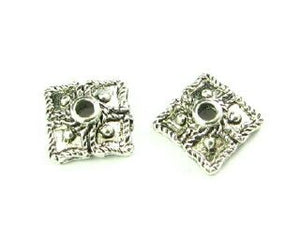 Bead Cap, Ornate, Nickel, 3x8mm (20 pcs)