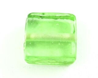 Indian Glass, Plain, Square, Peridot, 13mm (20gms - 10pcs)