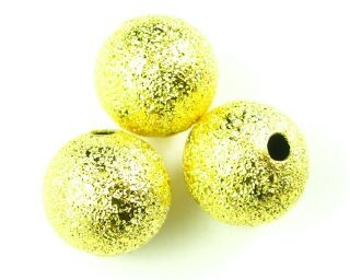 Metal Bead, Star Dust, Gold, 10mm (10 pcs)