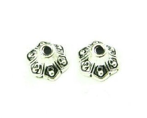 Bead Cap, Ornate, Nickel, 5x8mm (20 pcs)