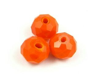 Chinese Crystal, Rondelle, Opaque, Orange, 6x8mm (20 pcs)