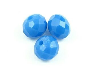Chinese Crystal, Rondelle, Opaque, Sapphire, 6x8mm (20 pcs)