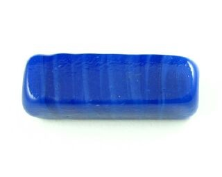 Indonesian Lampwork, Plain, Rectangle, Cobalt, 33x8mm (1pc)