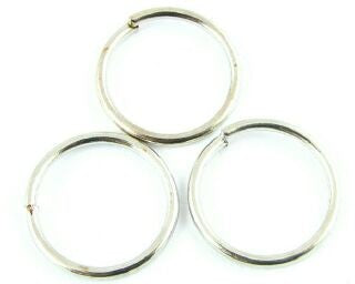 Jump Ring, Nickel, 14mm, 17ga (5gms/15pcs)
