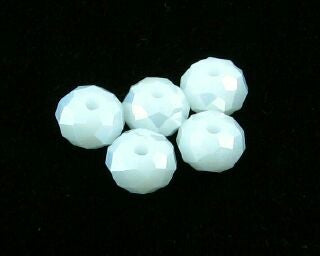 Chinese Crystal, Rondelle, Opaque White, 4x6mm (20 pcs)