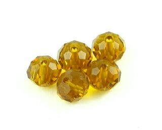 Chinese Crystal, Rondelle, Topaz, 4x6mm (20 pcs)