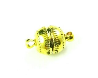 Magnetic Clasp, Gold, Ball, 17x10mm (5 Clasps)