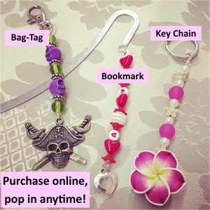Bookmark, Key Chain, Bag Tag Workshop (3 items) | 5yrs+ | 45mins | Pop in anytime