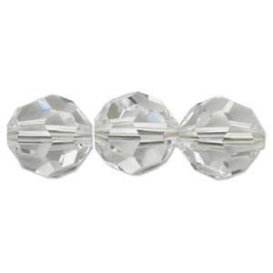Swarovski Crystal, Faceted Round, Crystal, 4mm (10pcs)