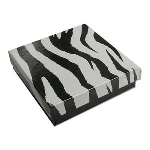 Gift Box, Zebra, 89x89x25mm (1pc)