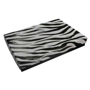 Gift Box, Zebra, 180x130x25mm (1pc)