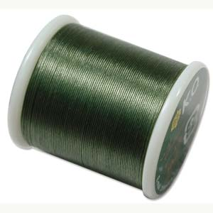 K O Thread Dark Olive (330dtex, Size B) - 50m Roll