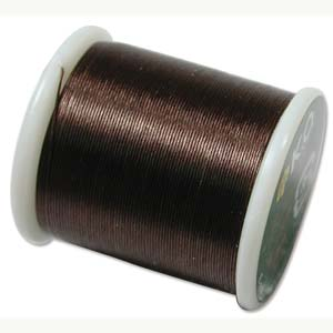 K O Thread Dark Brown (330dtex, Size B) - 50m Roll