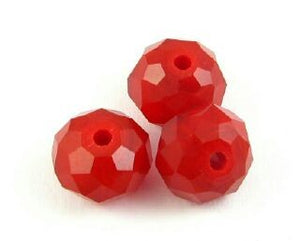 Chinese Crystal, Rondelle, Blood Red, 6x8mm (20 pcs)