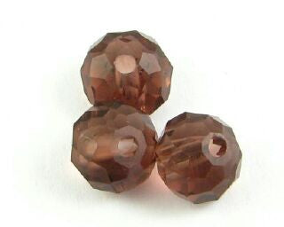 Chinese Crystal, Rondelle, Amethyst, 6x8mm (20 pcs)