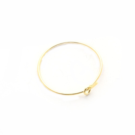 Earring/Wine Charm Hoops, Gold, 20mm (10prs)
