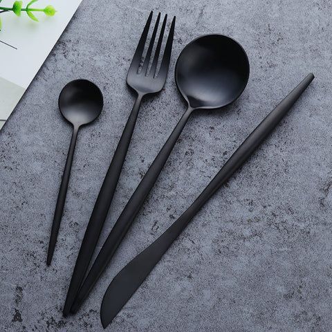 Luxe™ Matte Silverware Set - WoopDeco