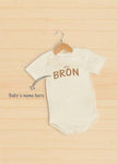 Onesie Baby Name Customization