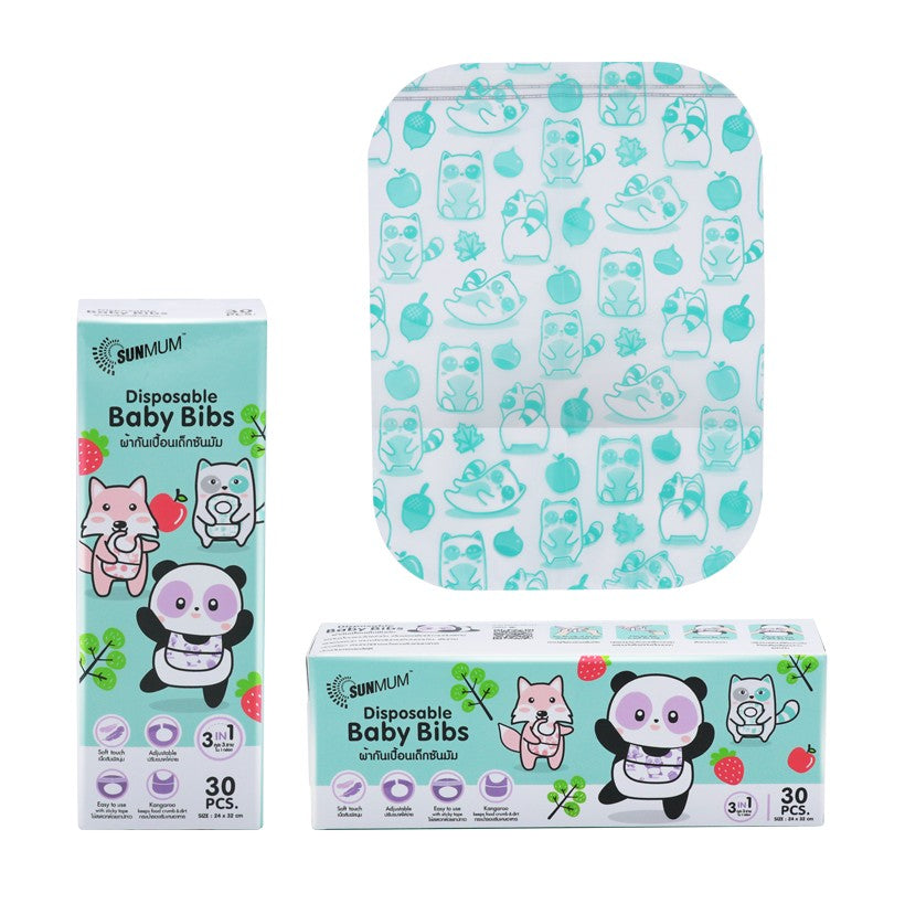 SUNMUM Disposable Baby Bibs