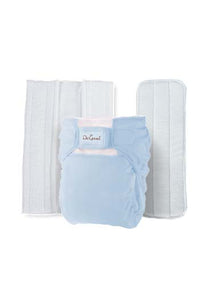 Do Good 3in1 Bamboo Cloth Diaper Set - Baby Blue