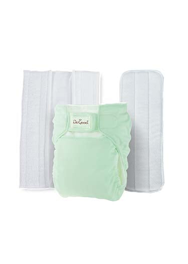 Do Good 3in1 Bamboo Cloth Diaper Set - Green