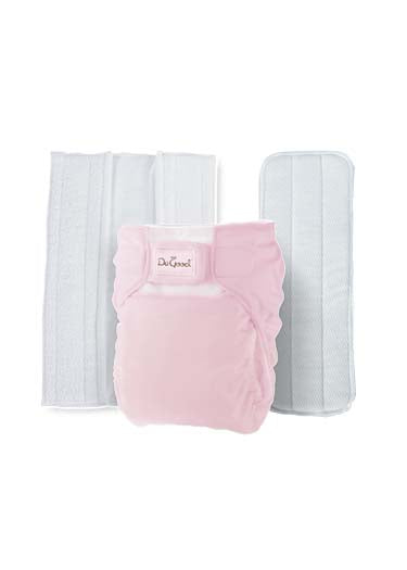 Do Good 3in1 Bamboo Cloth Diaper Set - Baby Pink