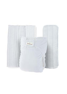 Do Good 3in1 Bamboo Cloth Diaper Set - White
