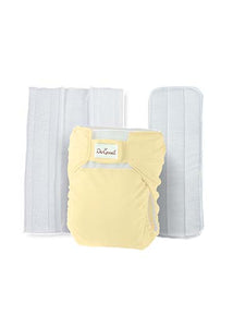 Do Good 3in1 Bamboo Cloth Diaper Set - Yellow