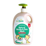 Tiny Buds Natural Dish & Bottle Wash Fragrance Free (600ml)