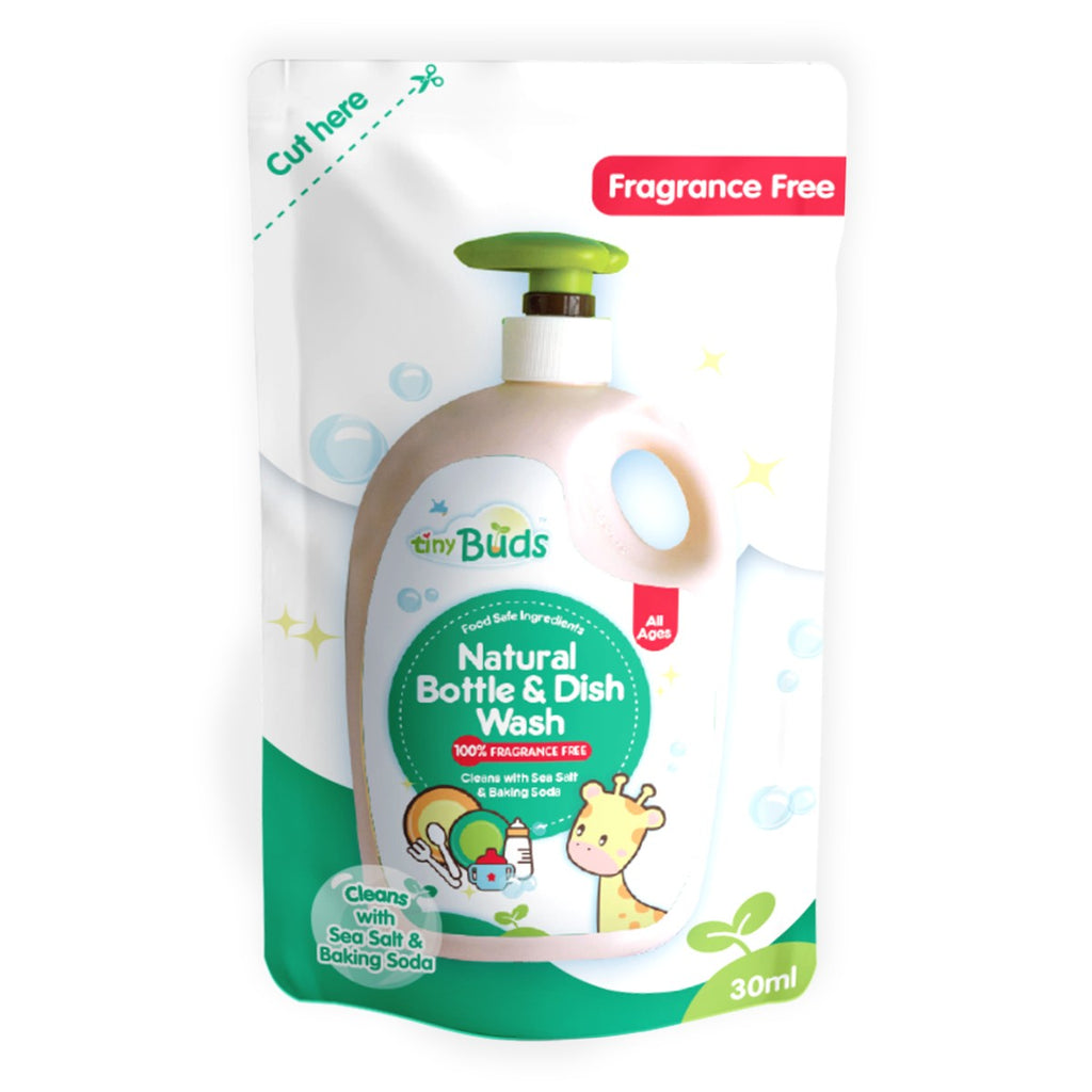 Tiny Buds Natural Dish & Bottle Wash (Fragrance Free) 30ml