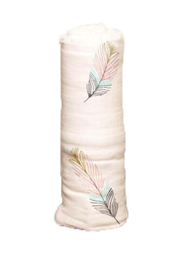 Organic Bamboo Baby Swaddle Feather
