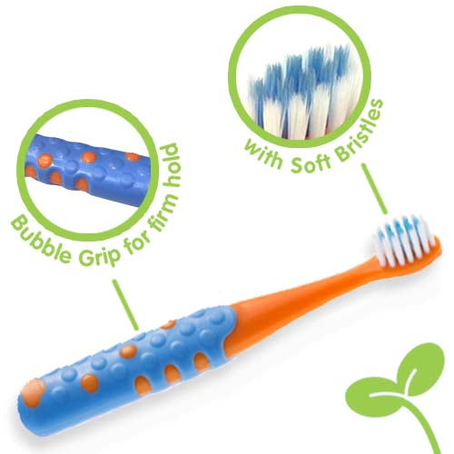 Kiddie Toothbrush Orange-Navy (3+ Yrs)