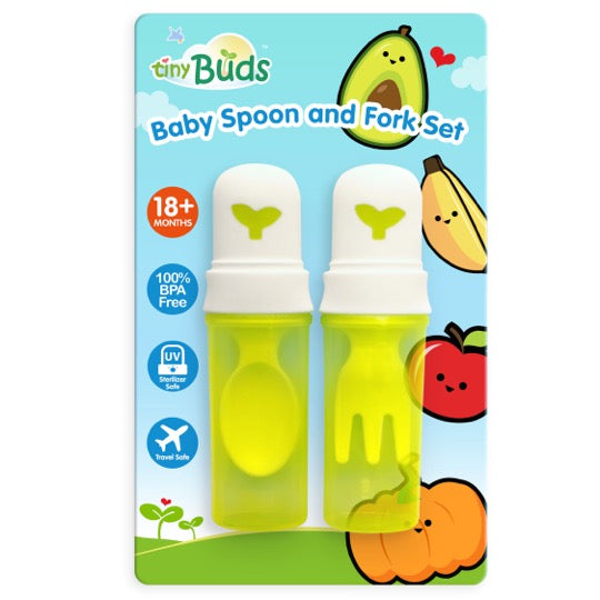 Baby Spoon & Fork Set with Tavel Cover