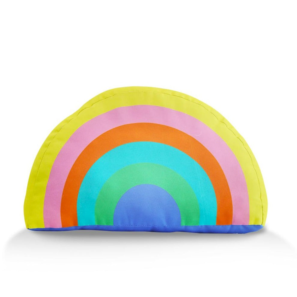 Tiny Things Sunshine Yellow Rainbow Plush Pillow