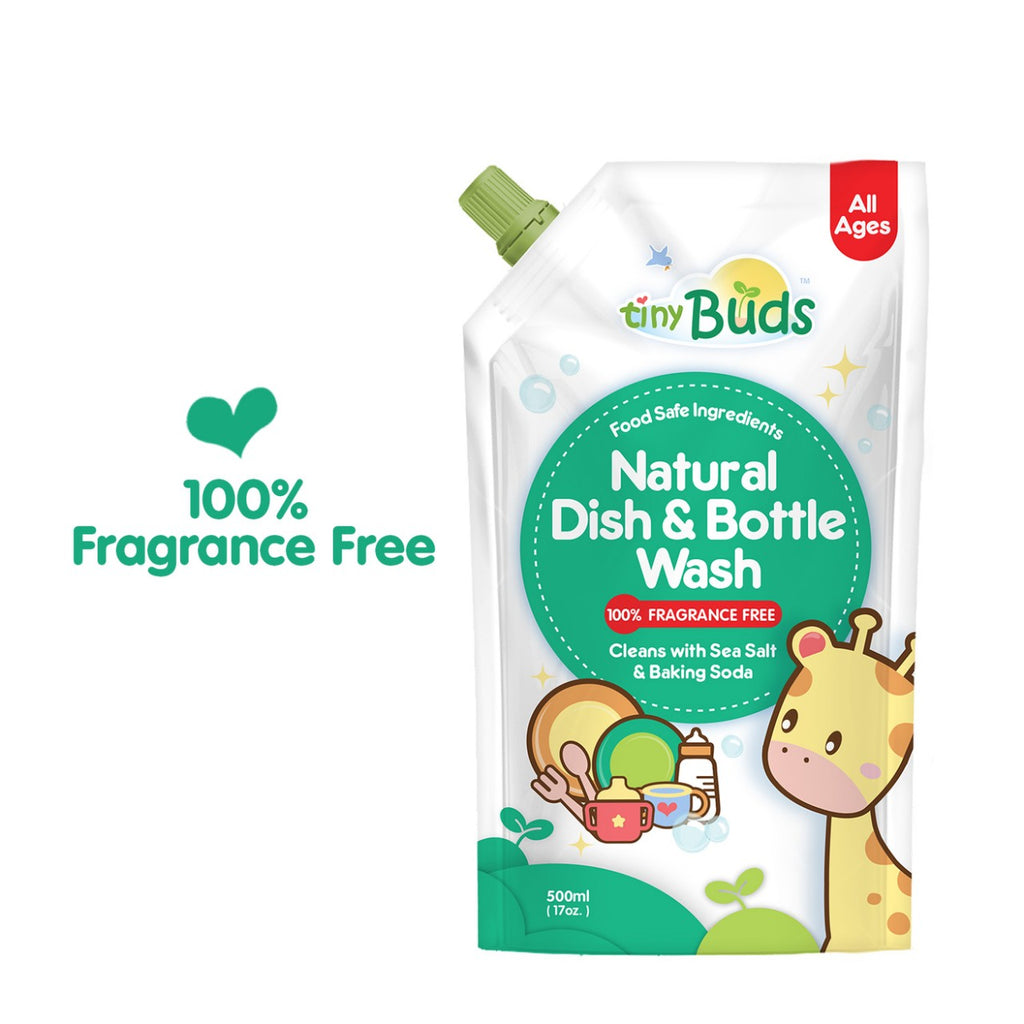 Tiny Buds Natural Dish & Bottle Wash Fragrance Free Refill (500ml)
